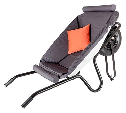 CARVIDO Design Sessel Loungesessel Clubsessel Cocktailsessel Polstersessel / Loungemöbel Garten, Aludo, orange, 135x70x85 cm