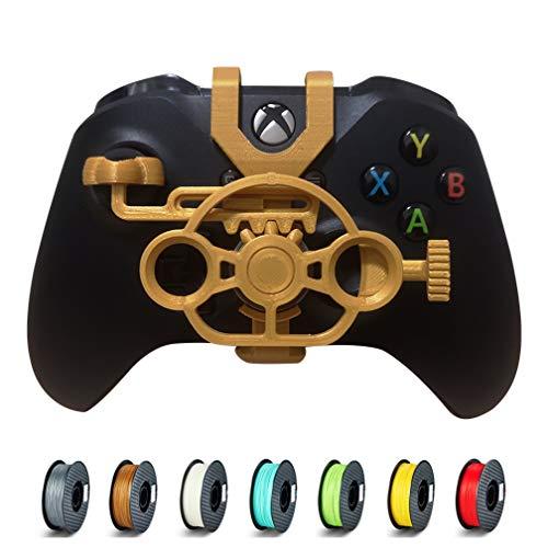 Xbox One S/X Mini-Lenkrad, Xbox One Controller, Ersatzzubehör für alle Xbox Rennspiele Gold-metallic