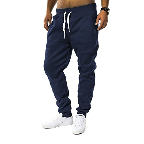 Herren Jogging Hose Fit & Home Sweat Pant Sporthose H1128 Dunkelblau XL