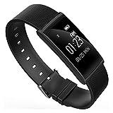 TRDCZ Smart Fitness Armband Pulsmesser Smart Band Blutdruck Bluetooth Smart Watch Passometer Sport Armband N108,Black