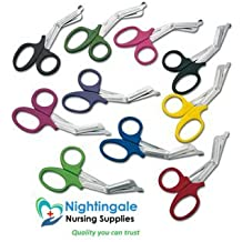 """resistente/lister Bendaggio Forbici - 7.5 """" GRANDE - SCEGLIERE DA VARI COLORI - Nightingale Nursing Supplies di marca - Rosso"""