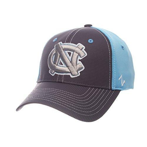 Zephyr North Carolina Tarheels Grid NC Grau/Lt Blau ausgestattet Hat, Herren, Grid Cap, Gray/Team Color