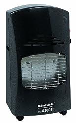 Einhell BFO 4200 TI Blue Flame Gasheizofen, 4,2 kW, inkl. Piezozünder, Gasdruckregler (Außen + Innenbereich), Gasschlauch u. 5-stufiges Thermostat