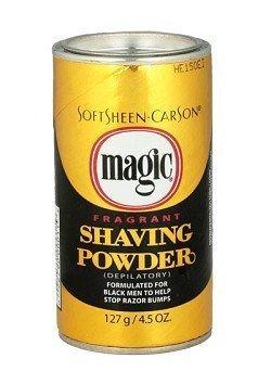 SOFT SHEEN Carson Magic Fragrant Shaving Powder Formulated For Black Men GOLD 4.5oz/127g by Magic (English Manual)