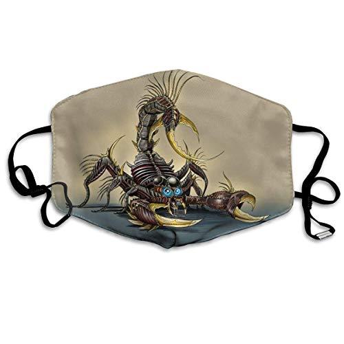 liang4268 Mundmasken Scorpion Animal Pattern Flu Dust Masks Reusable Cotton Breathable Safety Respirator for Outdoor Cycling Face Earloop Masks Dust Pollen Flu Germs Allergens Masks