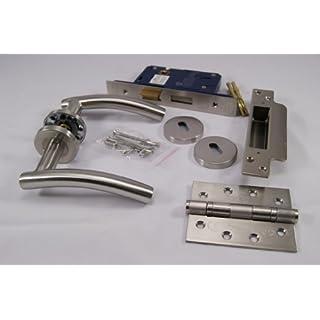 Arched Door Handle Pack (External Timber Door Set)Hinges
