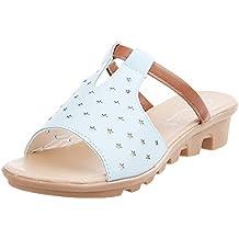 Sandalias Mujer Verano 2019,Sandalias Recortadas De Verano Moda SóLido Playa Diapositivas Zapatillas Zapatos De