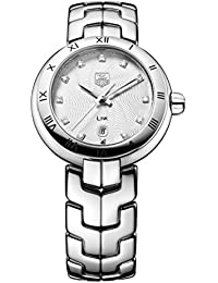 Tag Heuer Link Lady Diamond Dial Women's Quartz Watch with Silver Dial Analogue Display and Silver Stainless Steel Bracelet WAT1411.BA0954