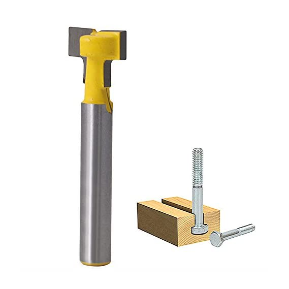 Generic 1/2'' T-Slot Cutter Steel Handle Milling Router Bit 1/4'' Shank For Woodworking H02