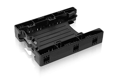 Einbaurahmen für 2x 2,5 Zoll (6,4cm) SSDs/HDDs in 1x 3,5 Zoll (8,9cm) - Icy Dock EZ-Fit Light MB290SP-B (Ez Montieren)