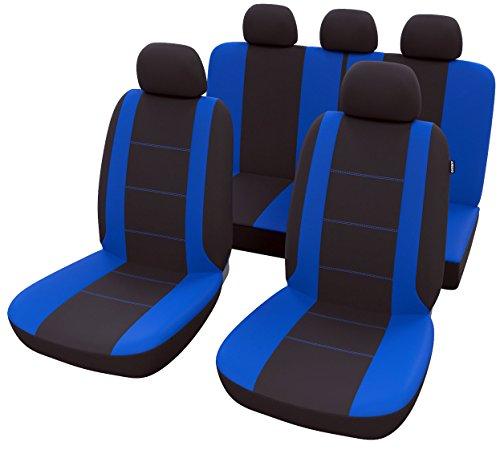 Autositzbezüge Universal Blau Schwarz   Auto Sitzbezug Set 9 teilig   Autozubehör Innenraum   B15