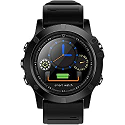 Montre Intelligente Bluetooth L11, Moniteur de Suivi de la Condition Physique, Bracelet de Fitness étanche IP68 avec Moniteur de fréquence Cardiaque, Moniteur podomètre pour Android et téléphone iOS