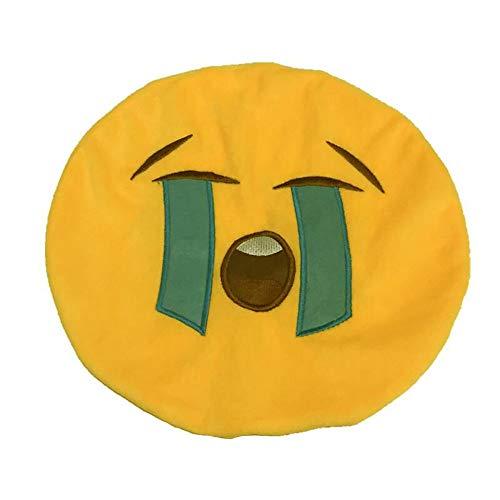 icher Ausdruck Smiley Emoticon gefüllt Plüsch Spielzeug Puppe Kissenbezug 32cm Creative Geschenk Wurfkissenbezug Festival Wohnkultur Dekorativer Kissenbezüge 1PC ()