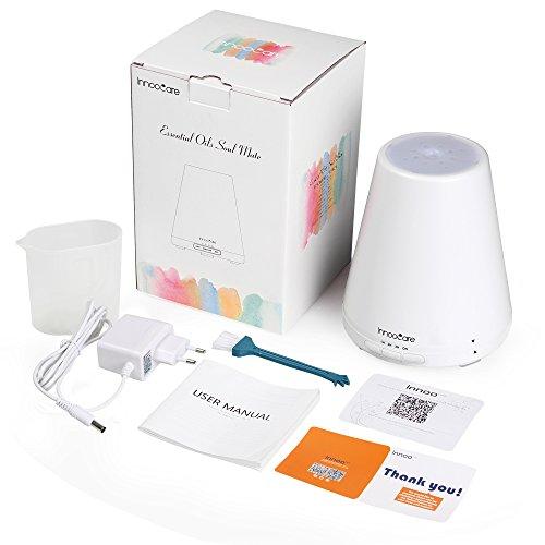 InnooCare-Humidificador-300ml-Difusor-de-Aceites-Esenciales-Difusor-de-Aroma-7-Colores-LED-4-Modos-de-Temporizador-Vapor-Fro-