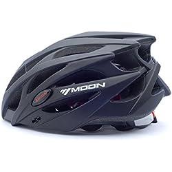 Asvert Casco de Ciclismo Duradero y Ajustable para Bici Protección, Talla M/L, Negro