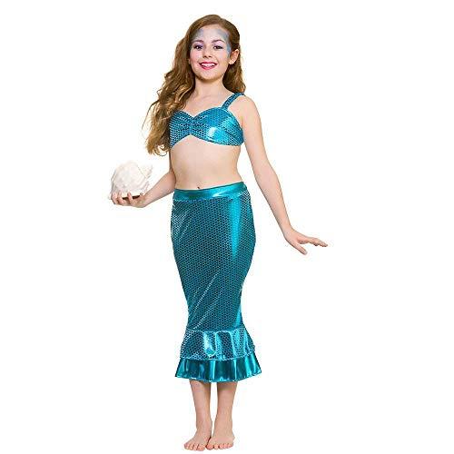 Mädchen mythische blaue magische Meerjungfrau unter dem Meer Kostüm (3-4 Jahre) (Kostüme Für Unter Dem Meer)
