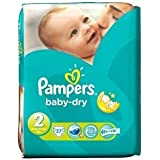 Pampers Baby Dry Size 2 (3-6kg) x 37 per pack by Proctor & Gamble UK
