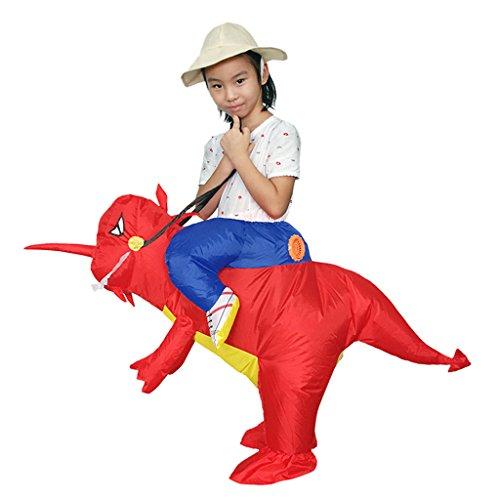 MagiDeal Aufblasbare Kostüm Dinosaurier T-Rex Reiten Cosplay Party Fancy Dress - Rot, (Dinosaurier Reiten Kostüm Aufblasbare)