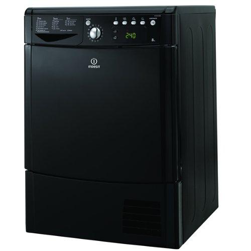 Indesit IDCE8450BK 8kg Sensor-controlled Freestanding Condenser Tumble Dryer - Black