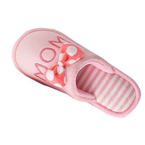 Gladiolusa donna uomo pantofole inverno morbido peluche calde ciabatte scarpe da casa rosa