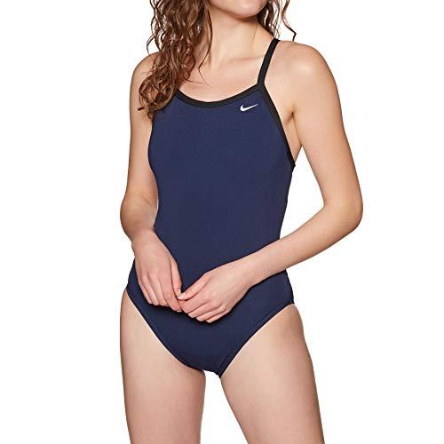 Nike Swim Damen Sportbadeanzug Navy L/40 (Bademode Damen Nike)