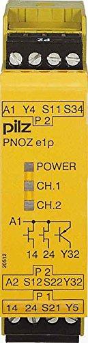 Pilz Not-Aus-Schaltgerät PNOZ e1p #774130 24VDC 2so Gerät zur Überwachung von sicherheitsgerichteten Stromkreisen 4046548011999