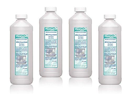 Fluid-Tec 4 x 500ml/2 Liter Milchsystemreiniger/Milchschaumreiniger / Milchschaumdüsenreiniger...