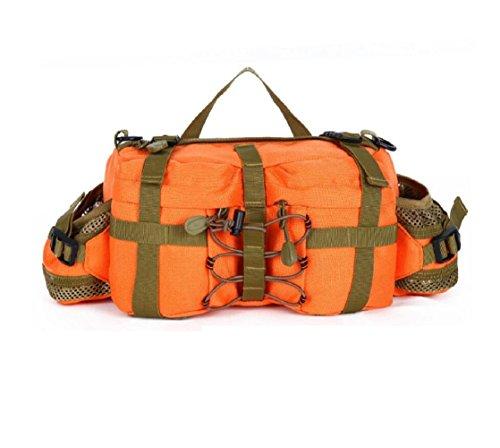 LJ&L Outdoor 6L Kapazität Tarnung Camping Ausrüstung Taschen, multifunktionale taktische Outdoor Wandertaschen, Nylon langlebige Verschleißtaschen A6