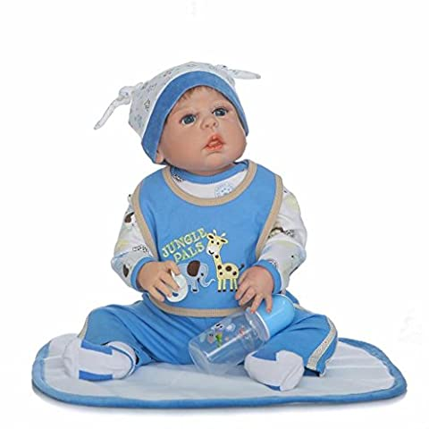 Terabithia 57cm Seltenes Leben Silikon Vinyl Voll Körper Wasserdicht Wiedergeborene Baby Junge Puppe