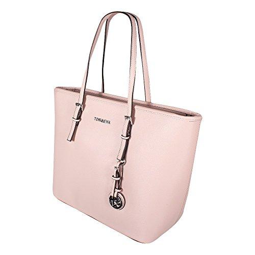 00933629fa8be ... Tom   Eva Damen Handtasche 6228F TE-Jet Set Travel Bag Tasche Braun Pink