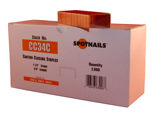 """Anchor Cc34C 1–1/4 """"de couronne 3/4 des jambes Carton fermeture à agrafes"""