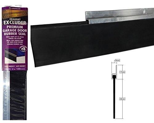 Guarnizioni per porte garage, progetto di protezione guarnizione inferiore 2,5 m (1,25 m x 2 pezzi)