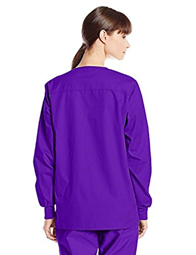 Dickies 86306 Women's Snap Front Warm-Up Jacket Grape 5X-Large (Front Dickies-snap)