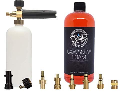 DetailedOnline Schneeschaum-Lanze + Plus 1 l Cherry Lava Schneeschaum - passend für alle Hochdruckreiniger