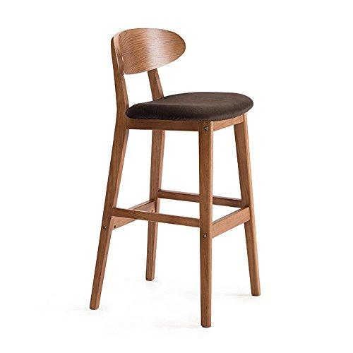 Retro-stil-barhocker (JDⓇ Bar Home Küche Frühstück Esszimmer Stühle Massivholz Sitz Hochstuhl mit Rückenlehne Barhocker Hocker einfach Retro-Stil (Beige Leinen) (Farbe : C))