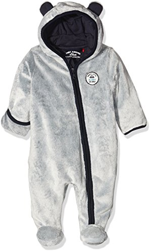 s.Oliver Baby-Jungen Playsuit in Teddyplüsch, Blau (Dark Blue Stripes 58s1), 68
