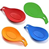 Ipop Retail Silicone Flexible Almond-Shaped Spoon Rest(Assorted)