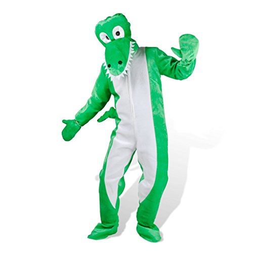 vidaXL Kostüm Krokodil Faschingkostüm Karnevalkostüm Verkleidung M-L