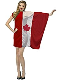 The Dragons Den Ladies Canada Flag Fancy Dress St Joseph the North Day Canadian Costume