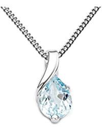 Miore - Collier avec Pendentif - Or Blanc 9 cts - MG9257N - Synthèse - 45 cm