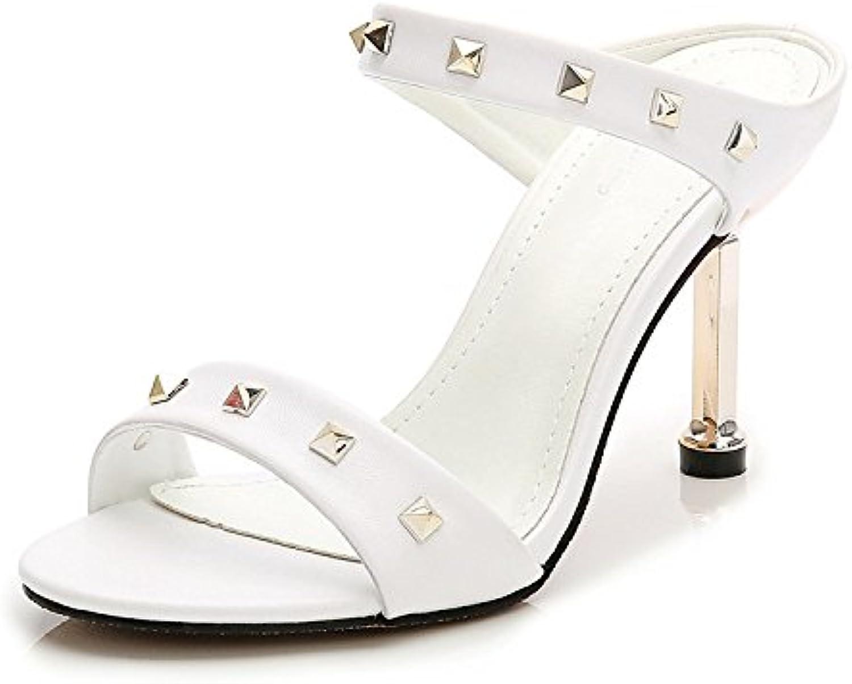 YXLONG La La La Version Coréenne De La Mode D'été du Mot Riveté avec des  s La Nature du Chat avec des Chaussures...B07GP811HBParent 92b5ea