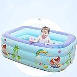 YAWJ Aufblasbare Schwimmbad Zu Hause Erwachsenen Kindern Dicken Planschbecken Garten Im Freien Rechteckigen Baby Wasser Spielzeug Pool (Color : Blue, Size : 200 * 145 * 55cm)