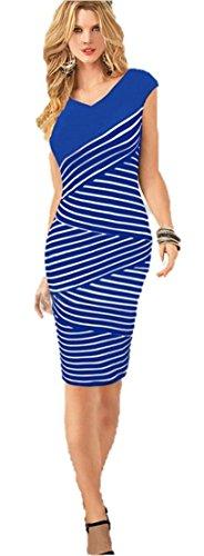 KingField - Robe - Crayon - Sans Manche - Femme Bleu - Bleu