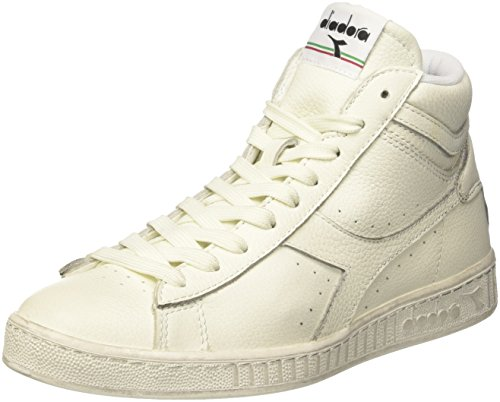 Diadora Game L High Waxed, Sneaker a Collo Alto Unisex - Adulto, Bianco, 43 EU