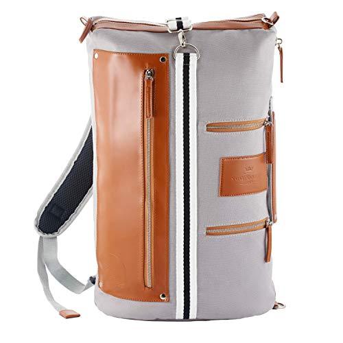 Saint maniero stiloso zaino uomo zaino donna backpack cartella zaino vintage rucksack daypack zaino grande school bag zaino casual (grigio)