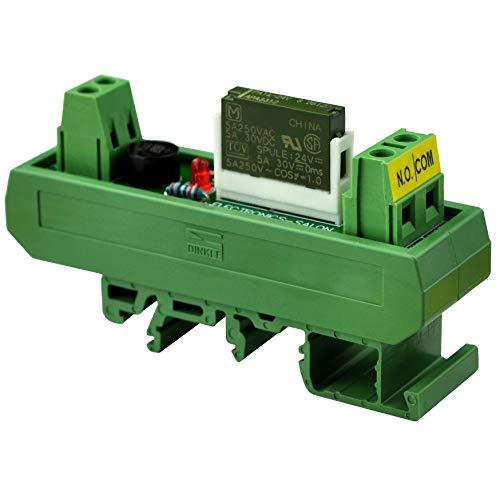 Electronics-Salon AC/DC 24V Slim DIN-Schienenmontage, 5 Amp SPST-NO Power Relay Interface Modul, PA1a-24V - 24v 5 Din-module
