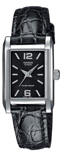 CASIO LTP1235L1AEF - Reloj de mujer de cuarzo, correa de piel color negro