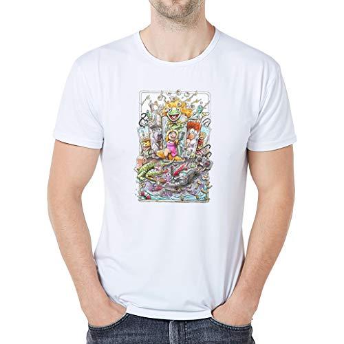 (Lässige Karikatur-Animations-Kurzärmeliges T-Shirt der Eltern-Kind-Abnutzung Vati, Kurzarm-Trikot für Eltern mit Kinderkleidung und Papa-Modellen)