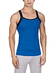 Chromozome Mens Cotton Vest (FB-05_FB05_Blue_S)