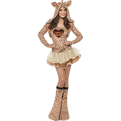 Sexy Giraffe Kostüm braun L 44/46 Giraffenkostüm Giraffen Damenkostüm Dreamgirlz Tierkostüm Zoo Lady ()